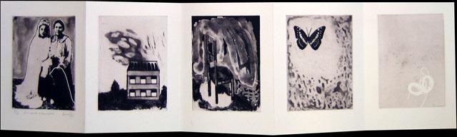Les voix silencieuses Eau forte, aquatinte, pointe sèche, marouflage 25 x 89 cm 2005
